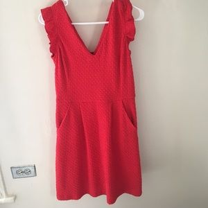 Red Anthropologie dress. Worn once.